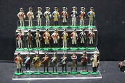 Collection Of 27 Ruffles And Flourishes Revolutionary War Lead Figures