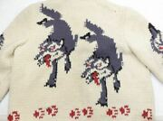 Super Rare 60s Vintage Cowichan Wolf Wolf Cowichan Sweater