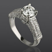 2.05 Carat Si Real Diamond Engagement Ring W Accents Size 5.5 6 6.25 6.5