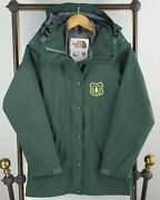 Vtg 1989 X Forest Service Womens Small Goretex Green Hooded Jacket