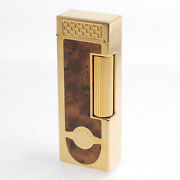 Dunhill Gas Lighter Rollagas Gold Rectangle Lg1845