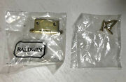 Lot Of 10 Baldwin Solid Brass Cabinet Hinges 1.5 X 1.5 X 3/32 New Fast Ship
