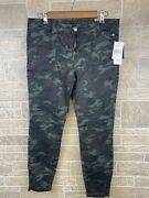 Nwt Kut From The Kloth Camo Cropped Ankle Skinny Cargo Utility Pants Size 10
