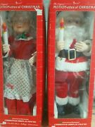 Telco Motion-ettes Of Christmas Animated Santa And Mrs Claus 24 Figures 1990 Iob