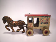 Antique Windup Toy Marx Toyland's Farm Products Milk And Cream Tin Litho 1930s