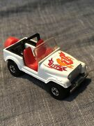 Vintage 1981 Hot Wheels Jeep Cj-7 White With Red Interior 164 Malaysia Mint