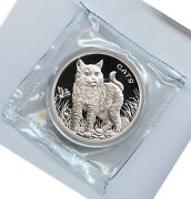2021 Fiji Cats 999 Silver 1 Oz Coin 0.50 Cents - Mb935
