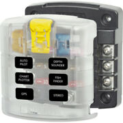 Blue Sea 5028 St Blade Fuse Block W/ Cover - 6 Circuit Without Negative Bus