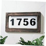 Solar Powered House Numbers, Address Sign Led Outdoor Plaque Lighted Up For