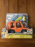 Disney Bluey Heeler 4wd Family Vehicle Car With Dad Bandit Figure 2 Surf Boards