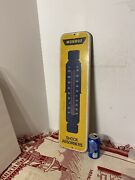 Estate Vintage Advertising Monroe Shock Absorbers Gas Oil Thermometer Sign 26 T