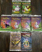 💥wizards Of The Coast Pokemon Gym Challenge Fossil Booster Pack Bundle X8 Rare