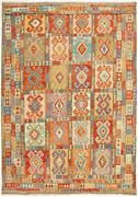 Hand Woven Bold And Colorful Multi Color Wool Kilim 9and03910 X 16and0390