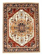 Vintage Geometric Hand-knotted Carpet 8and03910 X 11and03910 Traditional Wool Area Rug