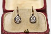 Antique Victorian Style New Made 14k Gold Natural Diamond Solitaire Earring