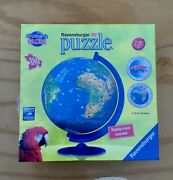 Ravensburger Children's Globe 3d Puzzle 180 Pieces 7.8 Inches For Ages 7-12 New