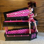 Monster High Draculaura Dead Tired Doll And Jewelry Box Coffin Set Htf