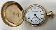 Fabulous Antique Goldfilled And 14k Gold Hunter Pocket Watch Elgin Natl. Watch Co.
