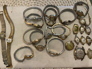 Lot Of Vintage Ladies Gold Filled Watches- For Parts Or Repair