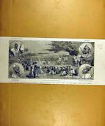 Old Antique Print 1887 Gambia River Africa Chiefs English Administrator 19th