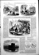 Antique Print Court House Backwoods Canada Fort Matanza Florida 1855 Ref.2 19th
