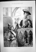 Old Antique Print Decorating Pulpit M Walker Truth Toys Dolls Hall 1891 19th