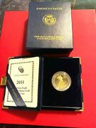 2011-gold American Eagle One Half Ounce Proof-west Point Mint