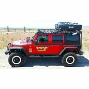 Warrior 10984 Roof Racks With Rails With Air Dam Black Powdercoated For Jeep New
