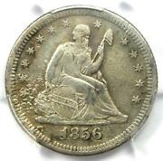 1856-s/s Seated Liberty Quarter 25c Coin - Pcgs Xf Details - Rare S/s Variety