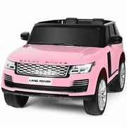 24v 2-seater Licensed Land Rover Kids Ride On Car With 4wd Remote Control-pink