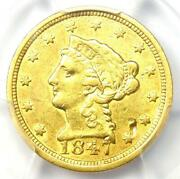 1847-c Liberty Gold Quarter Eagle 2.50 Charlotte - Certified Pcgs Xf Details