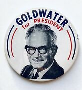 Goldwater Presidential Political Campaign Large 7 Pinback Button 1964 Ng Slater