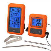 Remote Cooking Thermometer Digital Bbq Grill Oven Meat Wireless Smoker Timer
