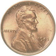 1945 D Lincoln Wheat Cent Bu Penny Us Coin