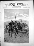 Old Cavalry Manoeuvres Lancers Leading Horses Camp Long Day March 1890 19th