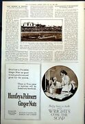 Old First Test Match Cricket Gregory Bowling To Hobbs Australia 1921 20th