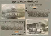Civil War Prisons Wood Relics Union And Confederate Elmira And Libby Historic