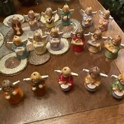 Goebel Angel Lot Of Year 1976-1984 Bell Band Orchestra Ornament Annual