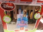 Disney Christmas Airblown Inflatable Castle Princess 8and039