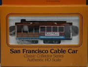 Bachmann Ho-scale San Francisco Cable Car Powell And Hyde St. Smirnoff / Pepsi Ads