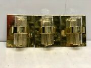 Happy Halloween Special Brass Maritime Antiques Golden Wall Mount Light Lot Of 3