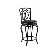 Black Metal Swivel Counter Height Stool Chair Bar Room Casual Transitional Styl