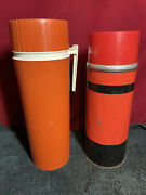 Vintage Thermoses Plastic Thermos And Metal Aladdin