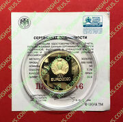 50 Roubles 2021 Russia Uefa Euro 2020 Gold Proof New