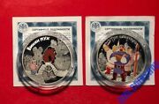 3 Roubles 2017 Russia Soviet Animation Three Heroes Winnie-the-pooh Silver Proof