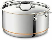 All-clad 6508 Stainless Steel Copper Core 5-ply Bonded Stockpot 8qt New In Box