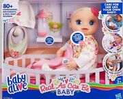 Baby Alive Real As Can Be Baby Doll Blonde Sculpted Hair New In Box