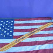 Vintage 1960s Wwii Asiatic Pacific Medal Central Burma Battle Streamer No Glow