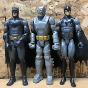 Lot Of 3 Mattel Dc Batman 2015 And 2016 And Joker 12 Inch Action Figures