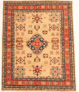 Vintage Geometric Hand-knotted Carpet 5and0391 X 6and0393 Traditional Wool Area Rug